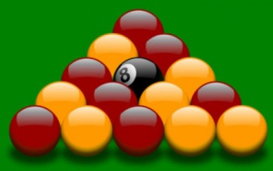 Image result for red and yellow pool balls
